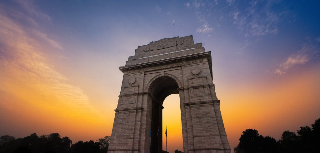 India Gate near metro station