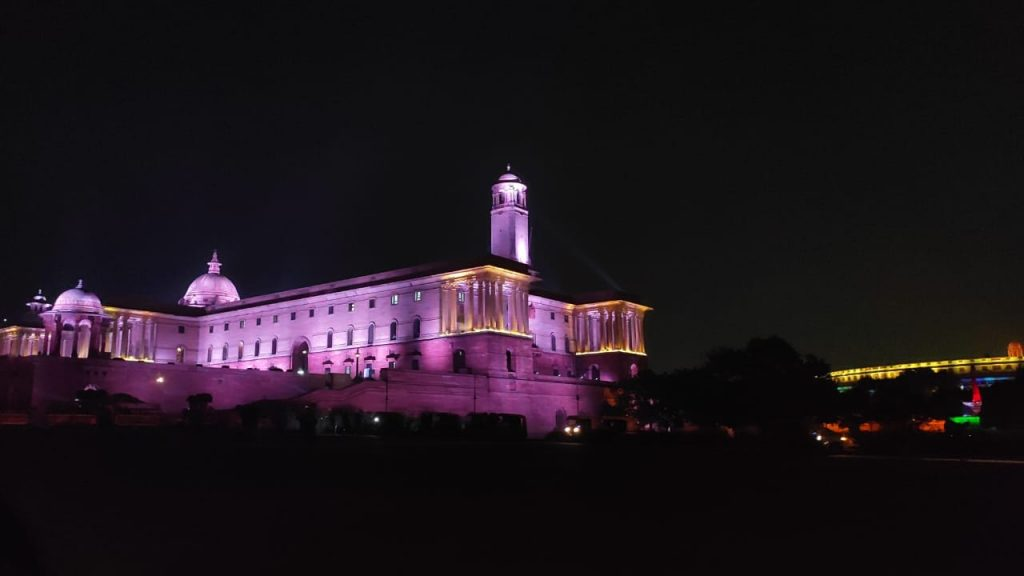 Parliament House near Delhi Metro
